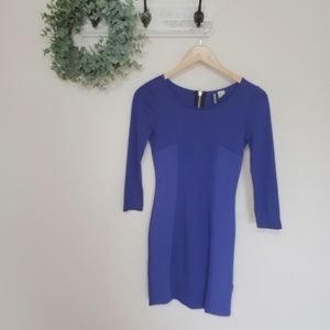Divided by H&M Royal Blue Body Con Dress Size 4